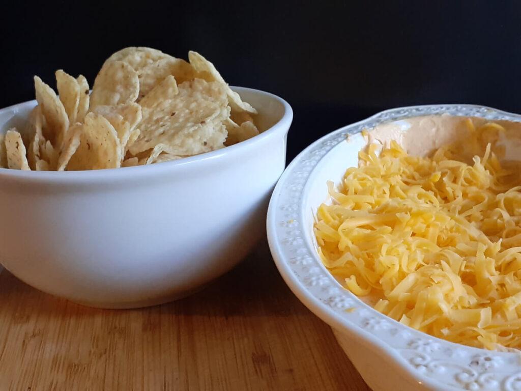 Bowl of Tostitos and Taco Chip Dip