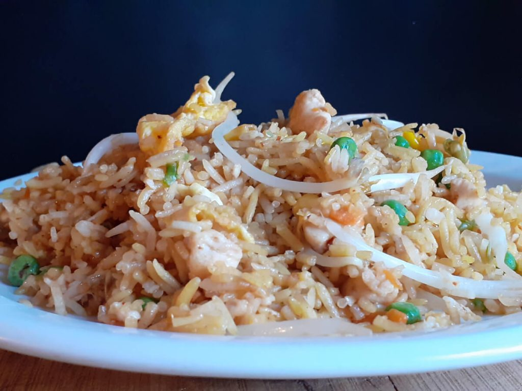 Chicken Fried Rice with Beansprouts