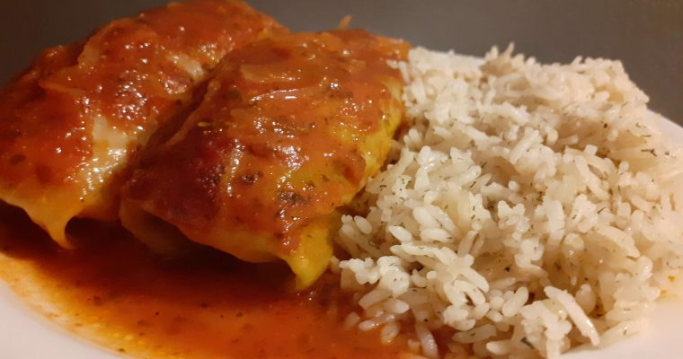 Cabbage Rolls With Dill Weed Rice