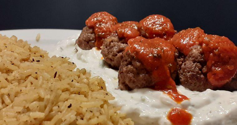Middle Eastern Meatball Platter