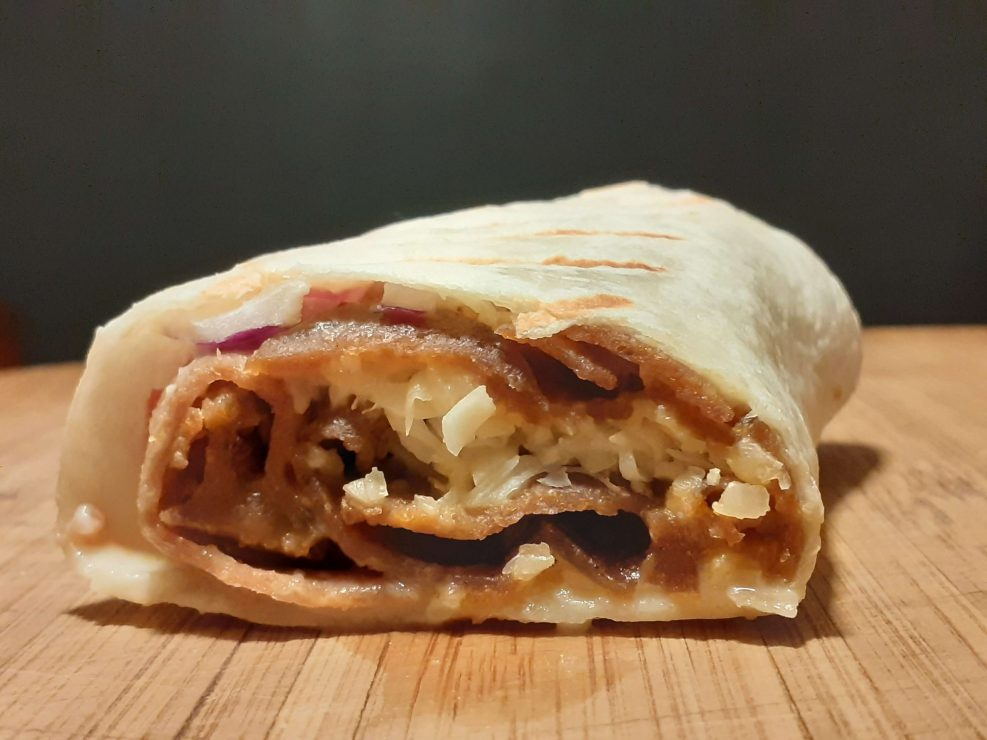 Donair Burrito Wrapped In Tortilla Bread And Grilled Jahzkitchen