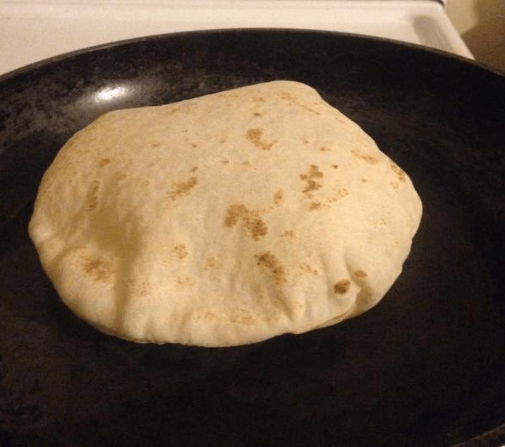 Pita Bread with Air Pocket