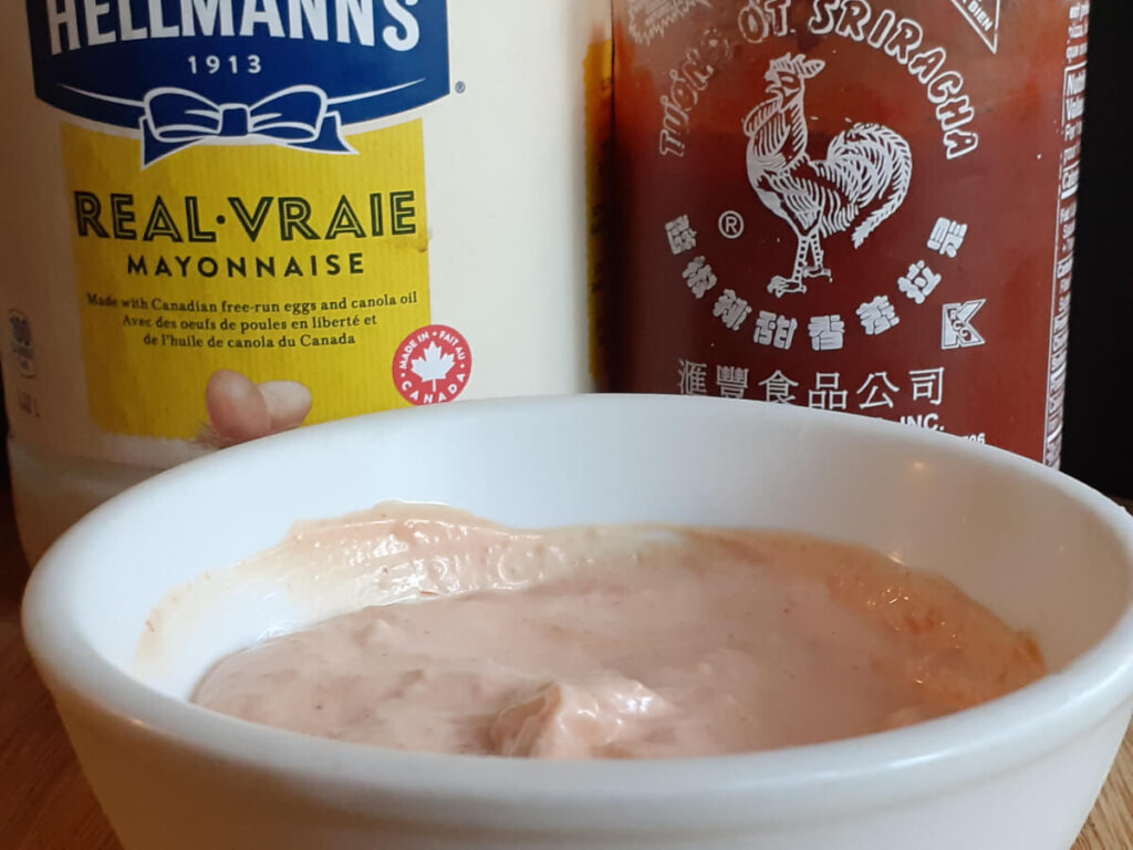 Mild Mayo Sauce Mayo and Sriracha