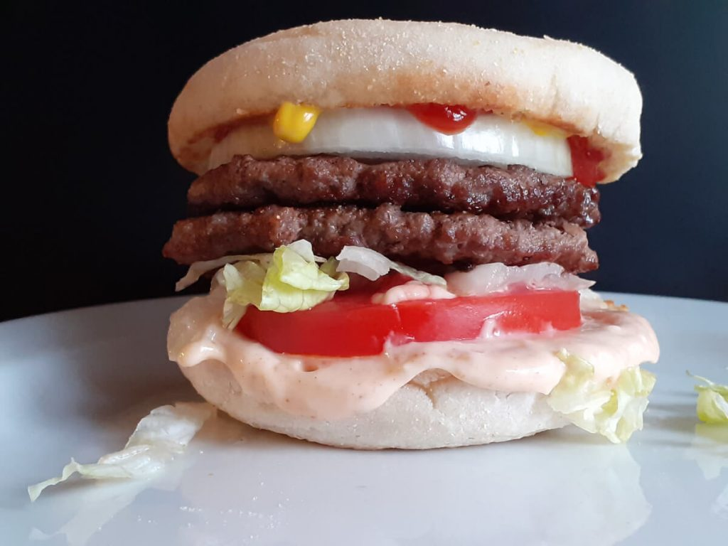 JAH Deluxe Burger on English Muffins