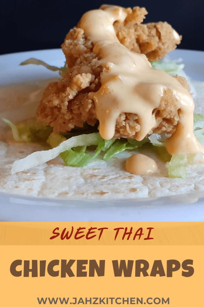 Sweet Thai Chicken Wrap