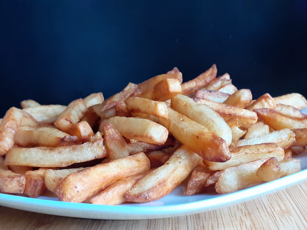 Air Fryer Fries with JAH Meat Oil