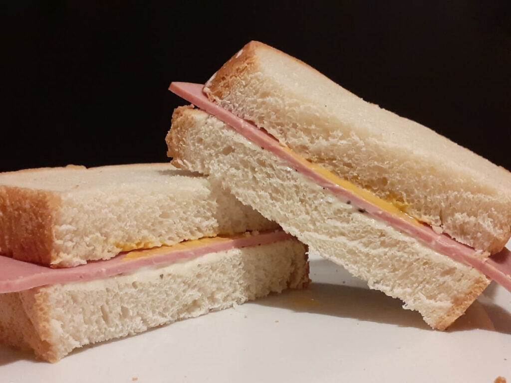 Bologna with Mayo and Mustard