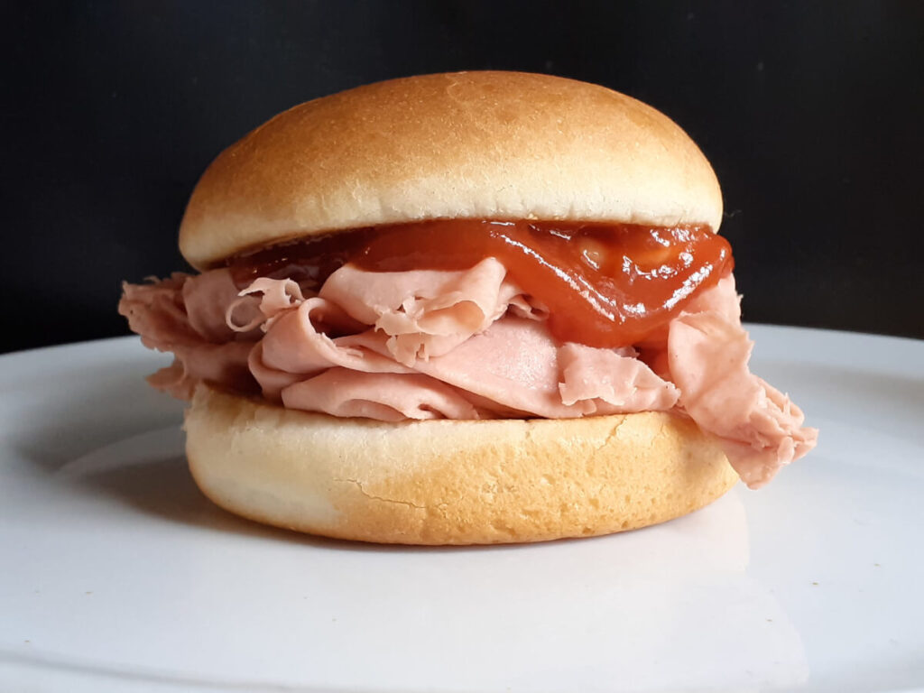 Arbys Bologna Sandwich with Red Sauce