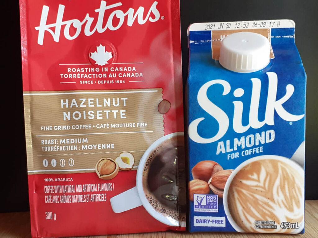 Hazelnut Coffee and Milk